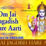 Om Jai Jagdish Hare Aarti Lyrics in English